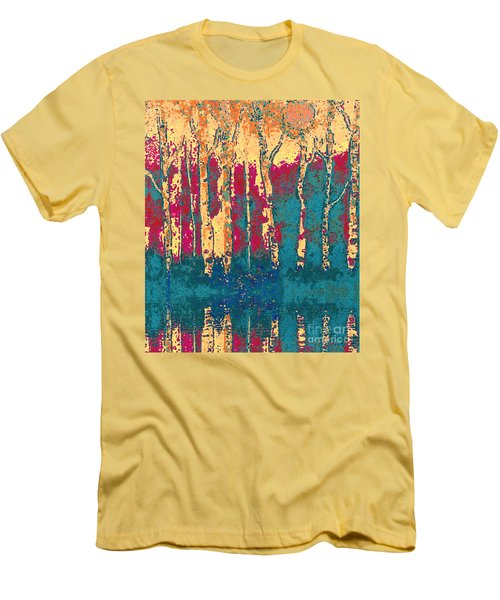 Autumn Birches Men's T-Shirt (Slim Fit) by Holly Martinson