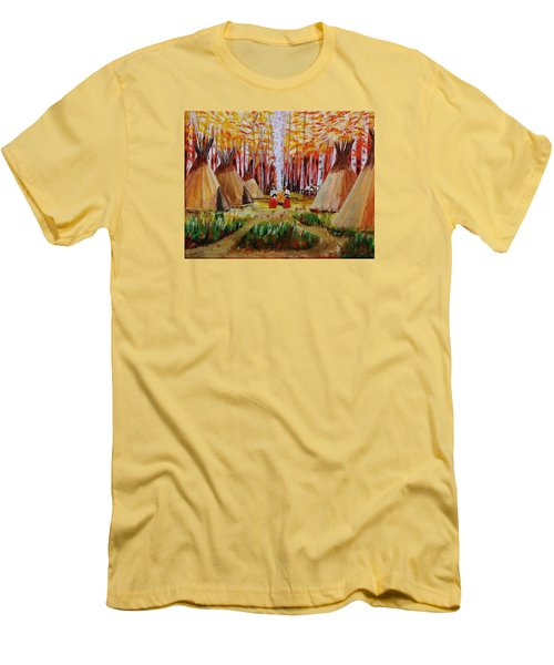Autumn Camp Men's T-Shirt (Athletic Fit)