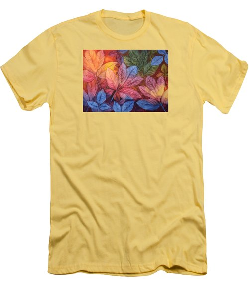 Men's T-Shirt (Slim Fit) featuring the painting Autumn Color by Nancy Jolley