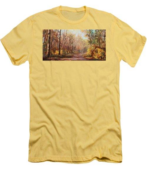Autumn Colors Men's T-Shirt (Slim Fit) by Bonnie Mason