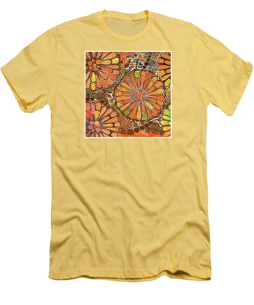 Autumn  Colors Mandalas  Men's T-Shirt (Slim Fit)