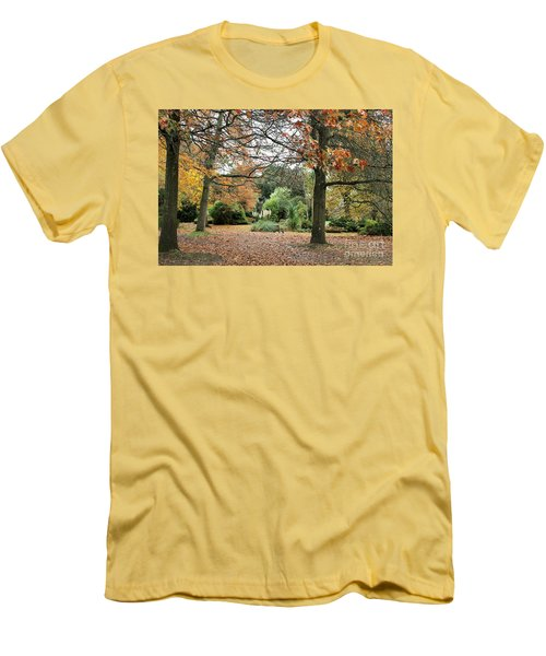 Men's T-Shirt (Slim Fit) featuring the photograph Autumn Fall by Katy Mei