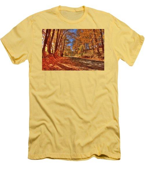 Autumn Glow Men's T-Shirt (Slim Fit) by Dale R Carlson
