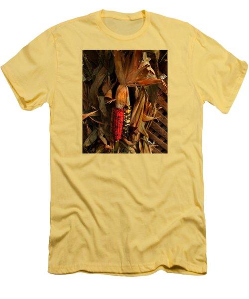 Men's T-Shirt (Slim Fit) featuring the photograph Autumn Harvest by Kathleen Stephens