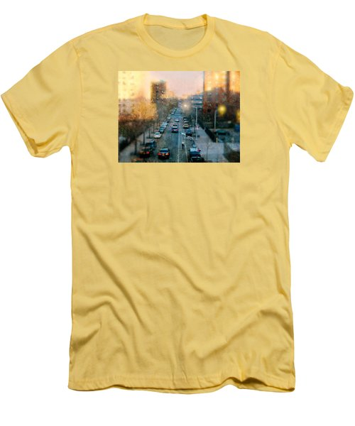 Autumn In Harlem Men's T-Shirt (Slim Fit) by Diana Angstadt