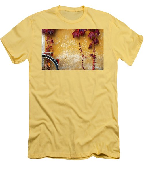 Men's T-Shirt (Slim Fit) featuring the photograph Autumn In Red by Yuri Santin