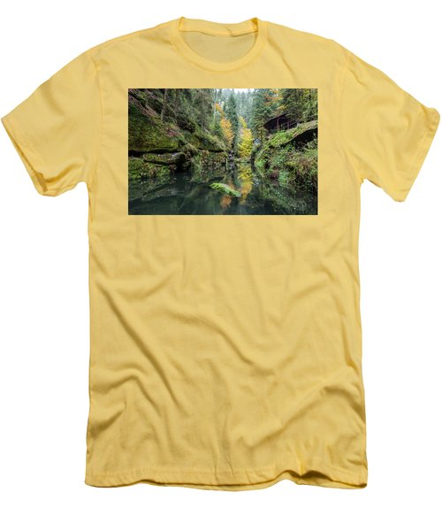 Autumn In The Kamnitz Gorge Men's T-Shirt (Slim Fit) by Andreas Levi