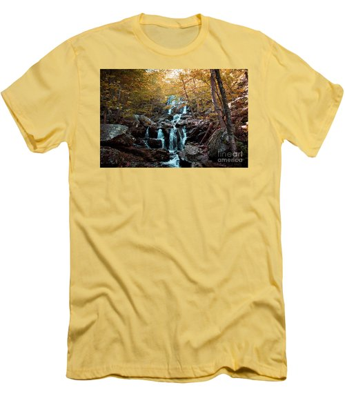 Autumn In The Mountains Men's T-Shirt (Slim Fit) by Rebecca Davis