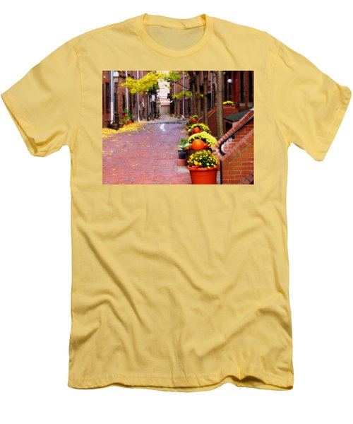 Autumn In The North End Men's T-Shirt (Slim Fit) by Bruce Carpenter