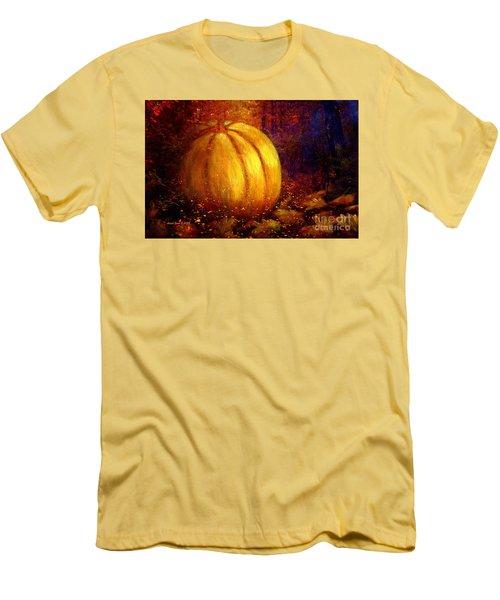 Autumn Landscape Painting Men's T-Shirt (Slim Fit) by Annie Zeno