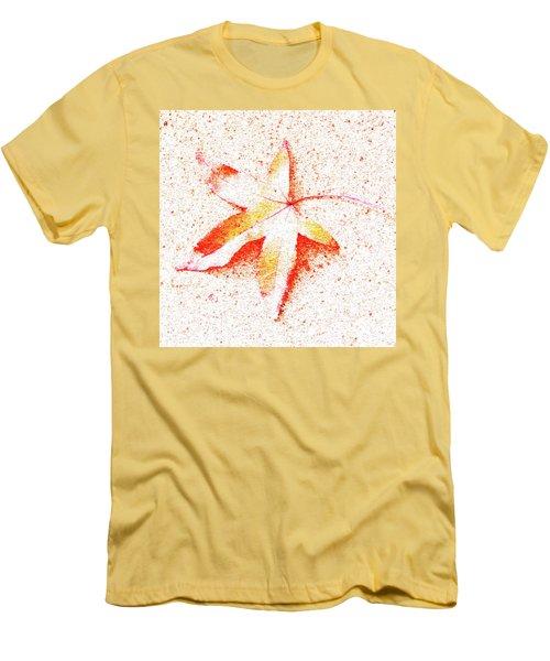 Autumn Leaf Art Men's T-Shirt (Athletic Fit)