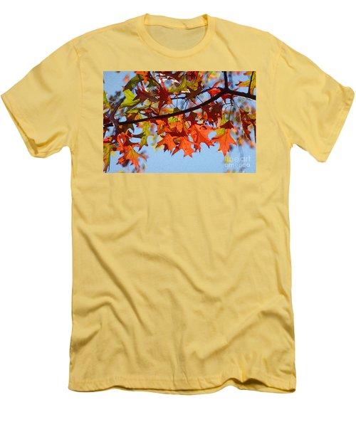 Autumn Leaves 16 Men's T-Shirt (Slim Fit) by Jean Bernard Roussilhe