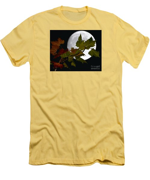 Men's T-Shirt (Slim Fit) featuring the photograph Autumn Moon by Patrick Witz