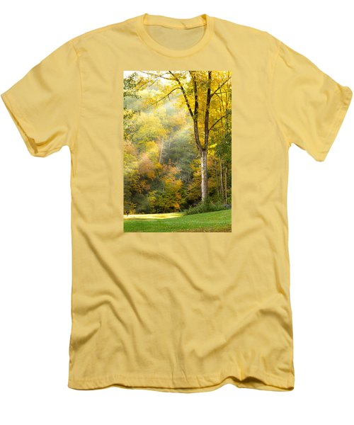 Autumn Morning Rays Men's T-Shirt (Slim Fit) by Brian Caldwell