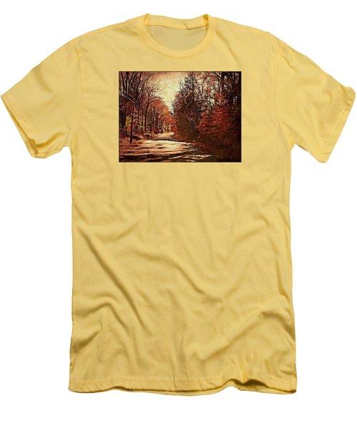 Autumn Norland's Road Men's T-Shirt (Slim Fit) by Joy Nichols