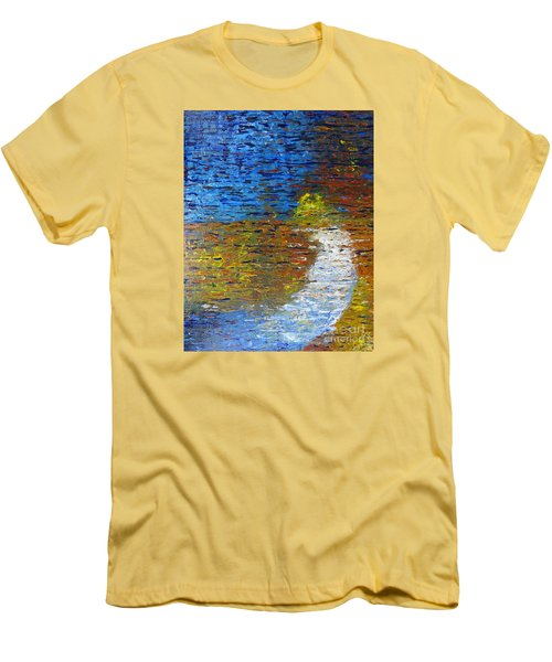 Men's T-Shirt (Slim Fit) featuring the painting Autumn Reflection by Jacqueline Athmann