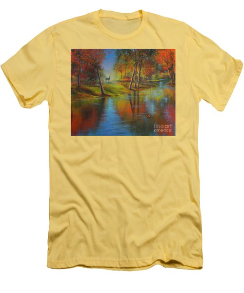 Autumn Reflections Men's T-Shirt (Slim Fit) by Jeanette French