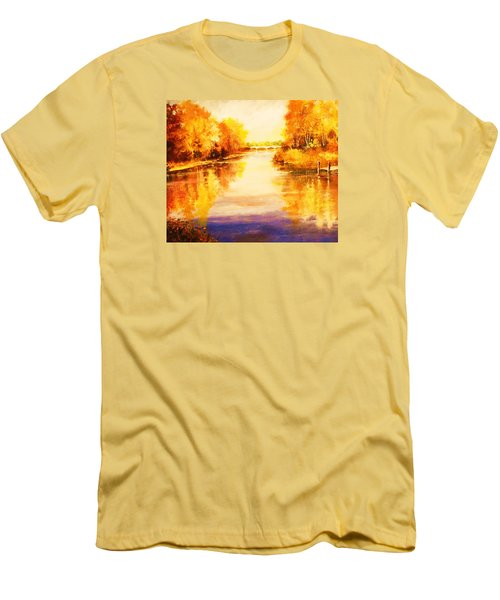 Autumn Gateway Men's T-Shirt (Slim Fit) by Al Brown