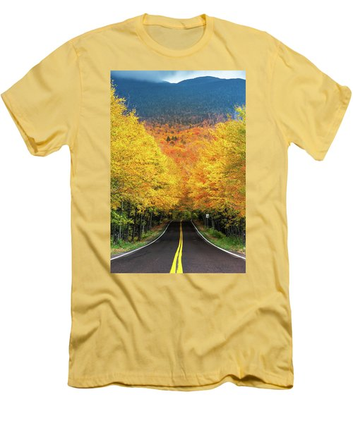 Autumn Tree Tunnel Men's T-Shirt (Athletic Fit)