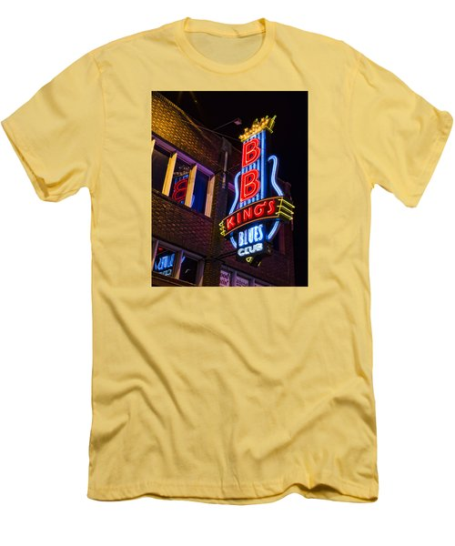 B B Kings On Beale Street Men's T-Shirt (Slim Fit) by Stephen Stookey