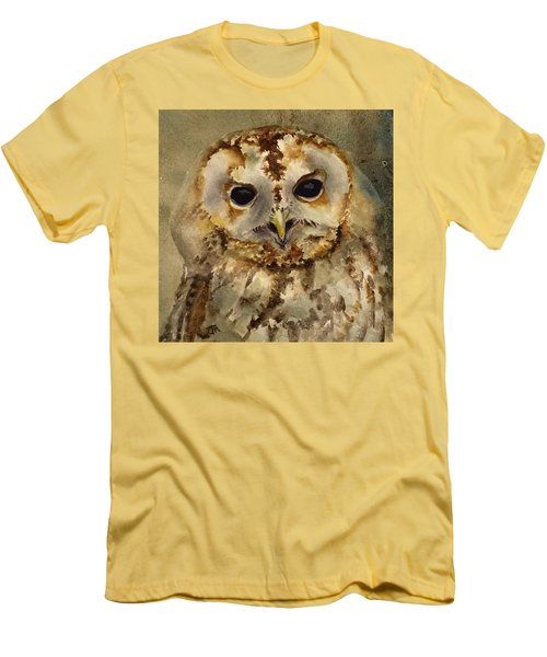 Baby Barred Owl Men's T-Shirt (Slim Fit)