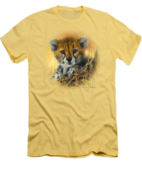 Baby Cheetah  Men's T-Shirt (Slim Fit) by Lucie Bilodeau