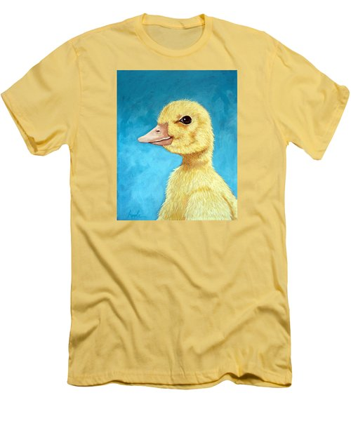 Baby Duck - Spring Duckling Men's T-Shirt (Slim Fit) by Linda Apple