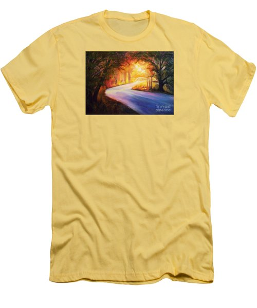 Back Road To Paradise Men's T-Shirt (Slim Fit) by Karen Kennedy Chatham