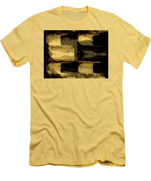 Colour Choice Stone Abstract Men's T-Shirt (Slim Fit) by Barbara Moignard