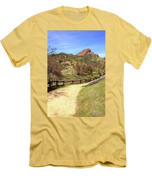Men's T-Shirt (Slim Fit) featuring the photograph Balconies Trail - Pinnacles National Park by Art Block Collections