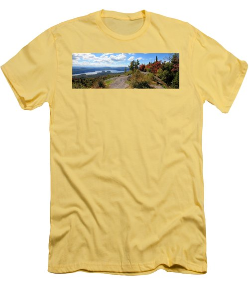 Bald Mountain Autumn Panorama Men's T-Shirt (Athletic Fit)