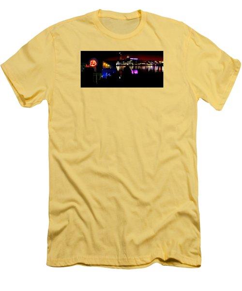 Baltimore Night Mosaic Men's T-Shirt (Slim Fit) by William Bartholomew