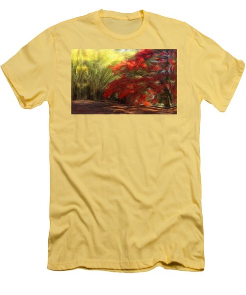 Bamboo And The Flamboyant Men's T-Shirt (Slim Fit) by Caito Junqueira