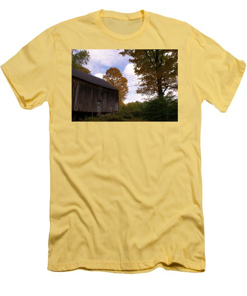 Barn In Fall Men's T-Shirt (Slim Fit) by Lois Lepisto