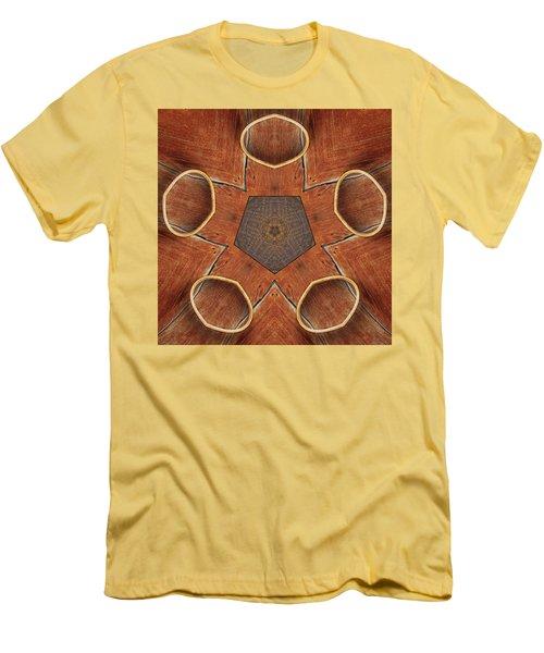 Barn Wood Kaleidoscope 2  Men's T-Shirt (Slim Fit) by Peter J Sucy