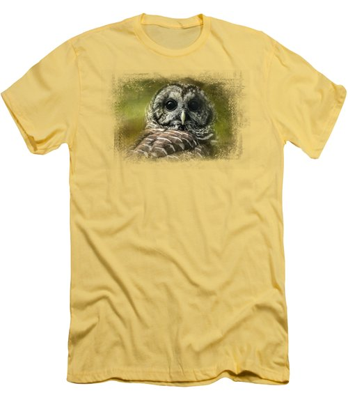 Barred Owl In The Grove Men's T-Shirt (Athletic Fit)
