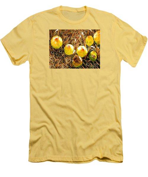 Men's T-Shirt (Slim Fit) featuring the photograph Barrel Cactus Fruit by Merton Allen