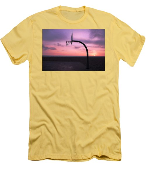 Basketball Court At Sunset Men's T-Shirt (Athletic Fit)
