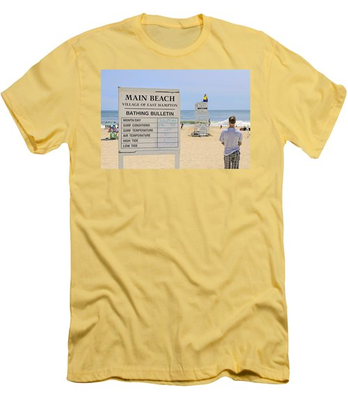 Bathing Bulletin Men's T-Shirt (Athletic Fit)