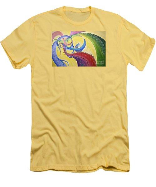 Baubles N Bows Men's T-Shirt (Slim Fit) by Nancy Cupp