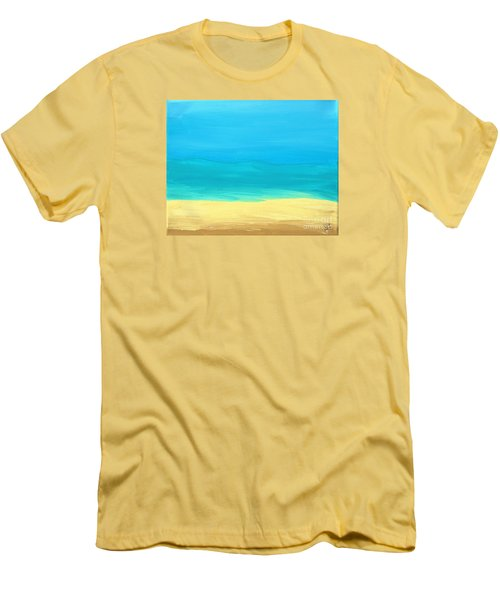 Beach Abstract Men's T-Shirt (Slim Fit) by D Hackett