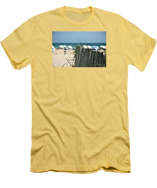 Beach Fence Men's T-Shirt (Athletic Fit)