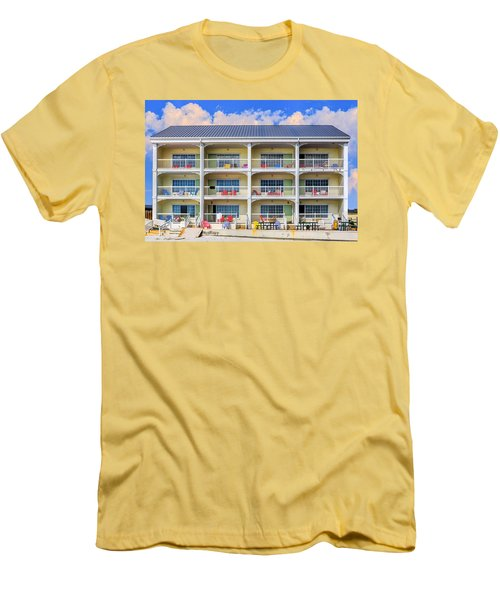 Beach Front Hotel Men's T-Shirt (Slim Fit) by Robert FERD Frank