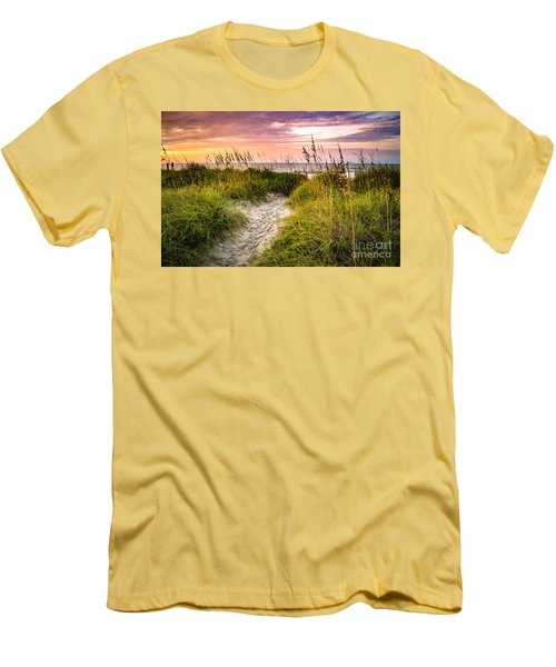 Beach Path Sunrise Men's T-Shirt (Athletic Fit)