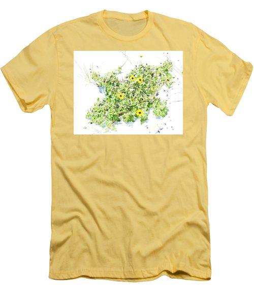 Beach Sun Flowers Men's T-Shirt (Athletic Fit)