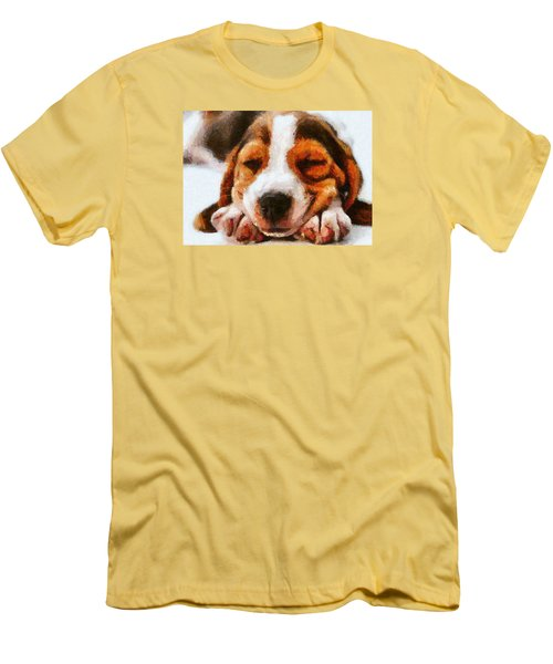 Beagle Puppy Men's T-Shirt (Athletic Fit)
