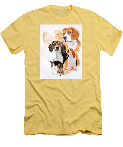 Beagle W/ghost Men's T-Shirt (Slim Fit) by Barbara Keith