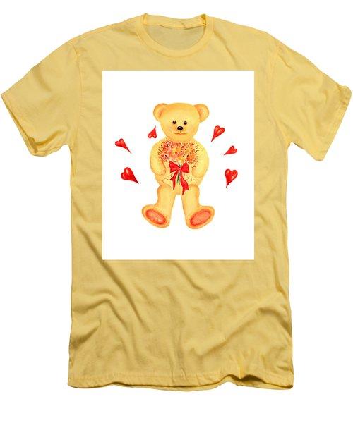 Bear In Love Men's T-Shirt (Slim Fit) by Elizabeth Lock