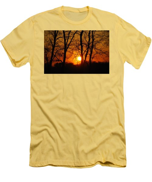 Beauatiful Red Sunset Men's T-Shirt (Athletic Fit)