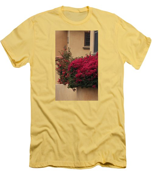 Beautiful Balcony With Bougainvillea Men's T-Shirt (Slim Fit) by Ivete Basso Photography